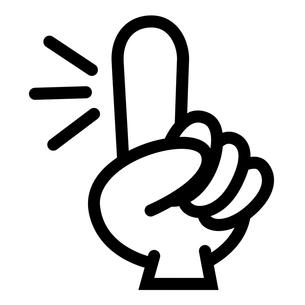 人差し指の写真素材 [FYI00187543]