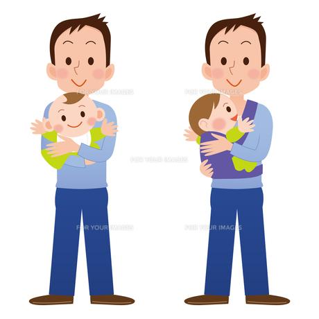 育児をする男性の写真素材 [FYI00187551]
