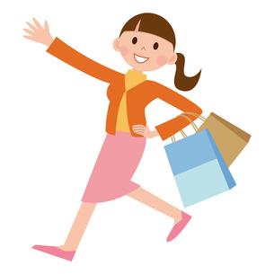 買い物をする女性の写真素材 [FYI00187556]
