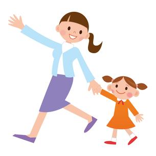 女の子と散歩の写真素材 [FYI00187557]