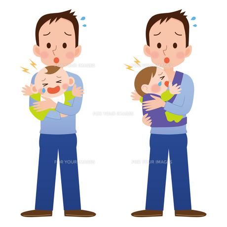 育児をする男性の写真素材 [FYI00187571]