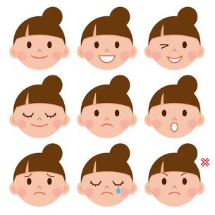 女性 表情色々の写真素材 [FYI00187572]