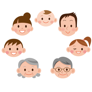 幸せ家族の写真素材 [FYI00187573]