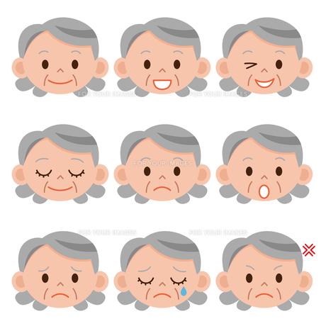 お婆さん 表情色々の写真素材 [FYI00187579]