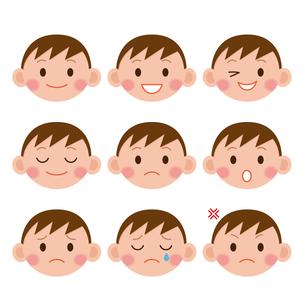 男の子の表情の写真素材 [FYI00187582]