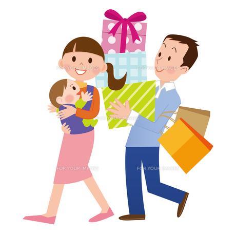 ショッピング 家族の写真素材 [FYI00187588]