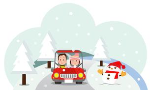 ドライブデート 冬の写真素材 [FYI00187591]