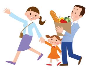 家族でお買いものの写真素材 [FYI00187593]