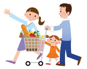 家族でお買いものの写真素材 [FYI00187594]