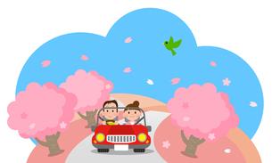ドライブデート 春の写真素材 [FYI00187608]