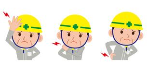 男性 頭痛 腰痛 肩こりの写真素材 [FYI00187632]