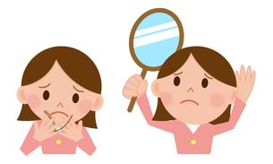 髪の悩み 女性の写真素材 [FYI00187652]