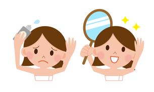 薄毛を気にする若い女性の写真素材 [FYI00187654]