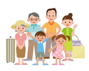 家族三世代で旅行の写真素材 [FYI00187659]