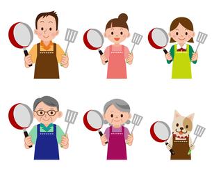 料理をする人のセットの写真素材 [FYI00187673]