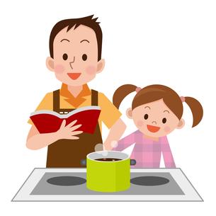 料理をするお父さんの写真素材 [FYI00187685]