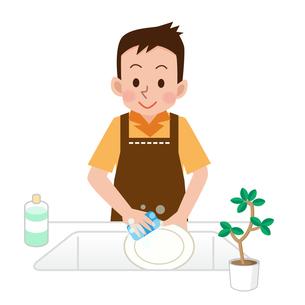 洗い物をする男性の写真素材 [FYI00187686]