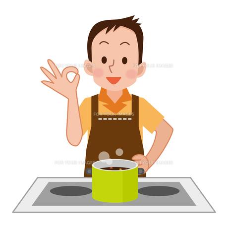 料理をする男性の写真素材 [FYI00187687]