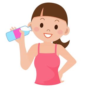 水を飲む女性の写真素材 [FYI00187691]