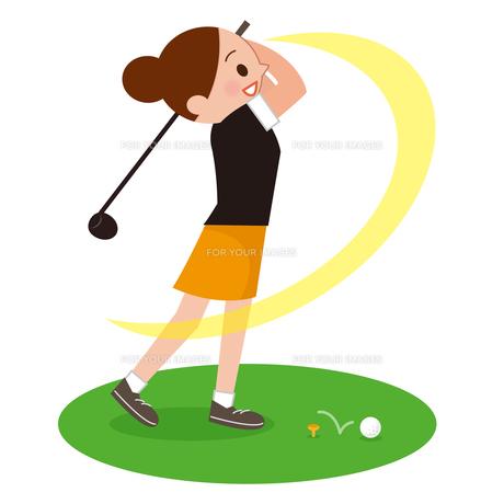 ゴルフが下手な女性の写真素材 [FYI00187692]