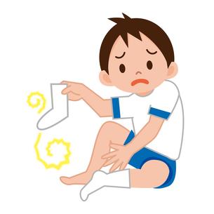 足の臭い男の子の写真素材 [FYI00187696]