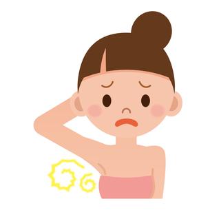 汗の臭いを気にする女性の写真素材 [FYI00187698]