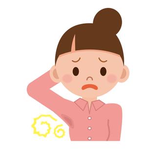 汗の臭いを気にする女性の写真素材 [FYI00187699]