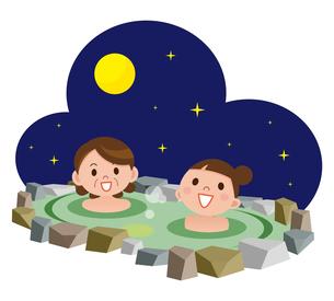 親子で露天風呂の写真素材 [FYI00187708]