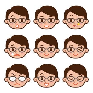 男性の表情セットの写真素材 [FYI00187725]
