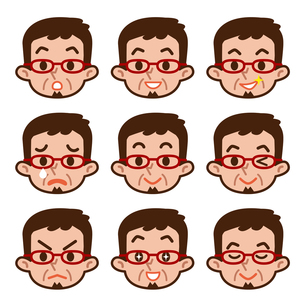 男性の表情セットの写真素材 [FYI00187738]