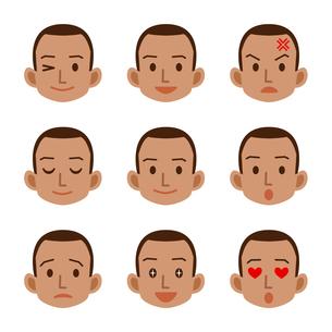 男性の表情セットの写真素材 [FYI00187742]