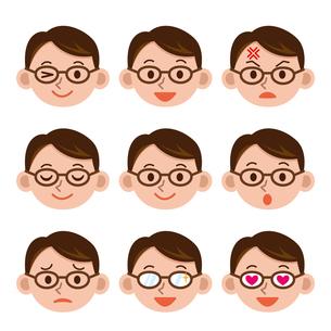 男性の表情セットの写真素材 [FYI00187743]