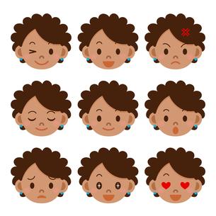 女性の表情セットの写真素材 [FYI00187749]