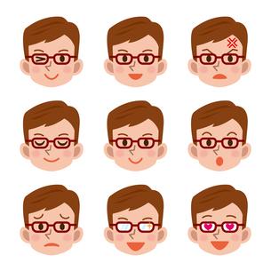 男性の表情セットの写真素材 [FYI00187751]