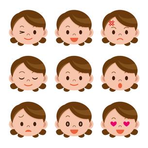 女性の表情セットの写真素材 [FYI00187753]