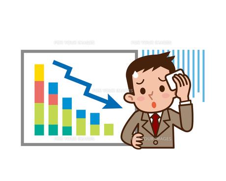ビジネスマンと上昇グラフの写真素材 [FYI00187765]