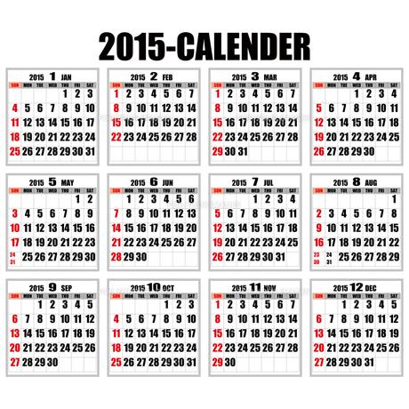 2015年カレンダーの素材 [FYI00187788]
