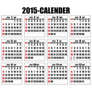 2015年カレンダーの写真素材 [FYI00187788]