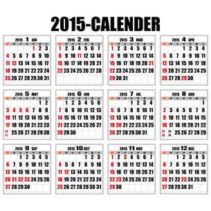2015年カレンダー日本の祝日ありの写真素材 [FYI00187795]
