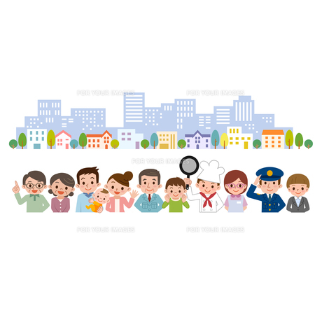 地域の人々 街並 集合 集まりの写真素材 [FYI00187800]