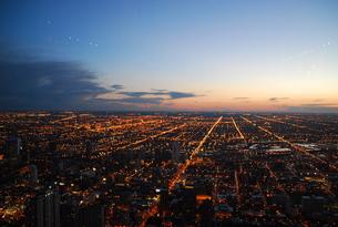 シカゴの夜景の写真素材 [FYI00187828]