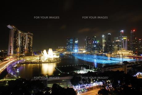 シンガポールの夜景の素材 [FYI00187842]