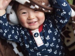 笑顔の男の子の写真素材 [FYI00187882]