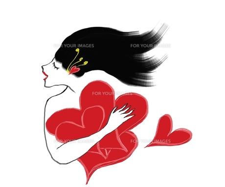 heartful ladyの写真素材 [FYI00187895]