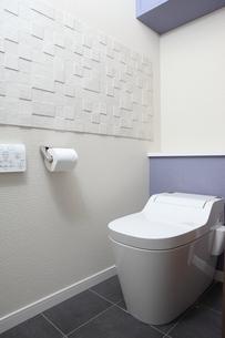 タイル貼りのトイレの写真素材 [FYI00188034]