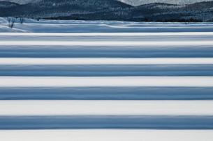 冬の段々畑の写真素材 [FYI00189066]