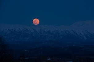 昇り始めた満月の写真素材 [FYI00189259]