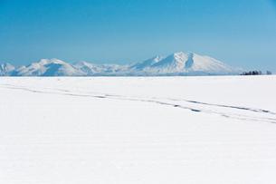 高い山と雪原の写真素材 [FYI00189388]
