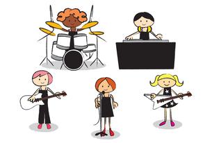 女性ロックバンドの写真素材 [FYI00189839]