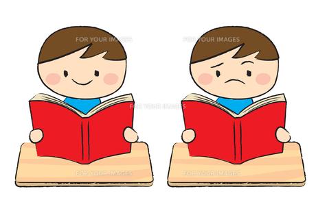 読書する子供の素材 [FYI00189875]